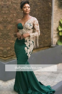 Formal Mermaid Beaded One-shoulder Evening Dress_1