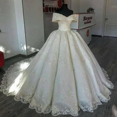 Gorgeous Ball Gown Wedding Dresses | Off-the-Shoulder Princess Bridal Gowns_2