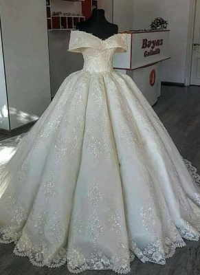 Gorgeous Ball Gown Wedding Dresses | Off-the-Shoulder Princess Bridal Gowns_1
