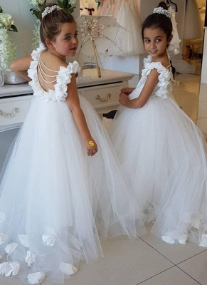 Exquisite Tulle Ball Gown Flower Girl Dresses | Scoop Juliet Flowers Girls Pageant Dresses_1