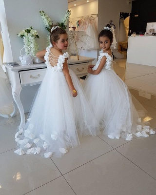 Exquisite Tulle Ball Gown Flower Girl Dresses | Scoop Juliet Flowers Girls Pageant Dresses_5