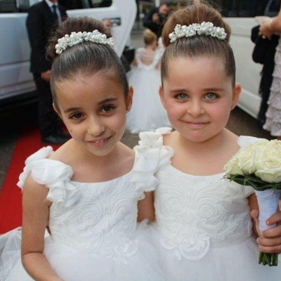 Exquisite Tulle Ball Gown Flower Girl Dresses | Scoop Juliet Flowers Girls Pageant Dresses_3
