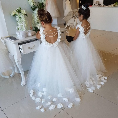 Exquisite Tulle Ball Gown Flower Girl Dresses | Scoop Juliet Flowers Girls Pageant Dresses_4