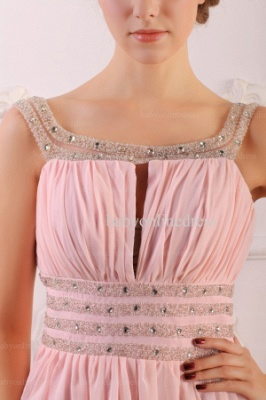 Wholesale Prom Dresses 2021 Cheap Beading Light Pink Chiffon Long Dress BO0638_4