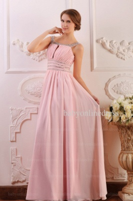 Wholesale Prom Dresses 2021 Cheap Beading Light Pink Chiffon Long Dress BO0638_2