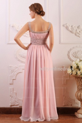 Wholesale Prom Dresses 2021 Cheap Beading Light Pink Chiffon Long Dress BO0638_3