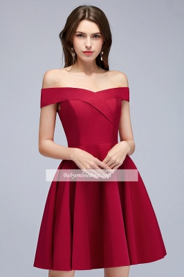 A-Line Length Knee Off-the-Shoulder Sweetheart Homecoming Dresses_6