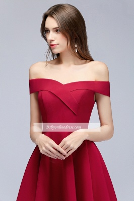 A-Line Length Knee Off-the-Shoulder Sweetheart Homecoming Dresses_3