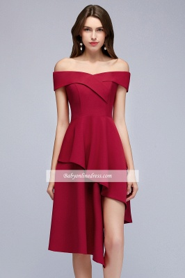 Hi-Lo A-Line Off-the-Shoulder Sweetheart Homecoming Dresses_7