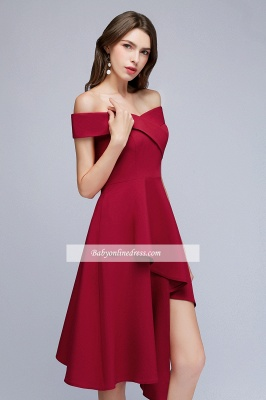 Hi-Lo A-Line Off-the-Shoulder Sweetheart Homecoming Dresses_3