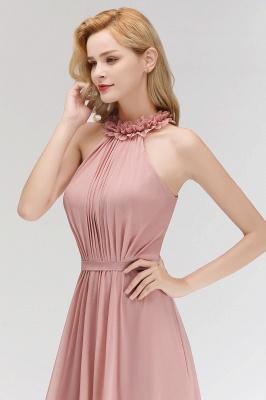 Elegant Chiffon A-Line Bridesmaid Dresses   Halter Ruched Long Formal Dresses_6