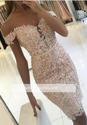 Sexy Short Sheath Off-the-Shoulder Lace Buttons Homecoming Dress 2021 qq0310_3