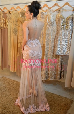 Tulle Lace Sexy 2021 Evening Dresses Sleeveless Glorious Fashional Party Gowns BA22_2