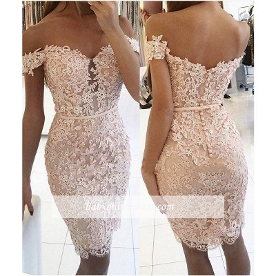 Sexy Short Sheath Off-the-Shoulder Lace Buttons Homecoming Dress 2021 qq0310_1