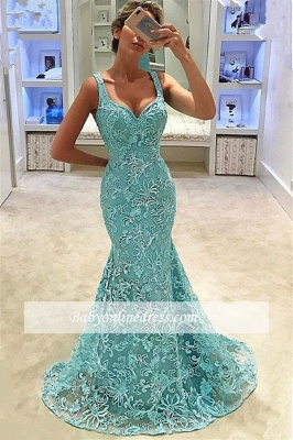 Glamorous Scoop Sleeveless Prom Dresses | Appliques Mermaid Long Evening Gowns_2