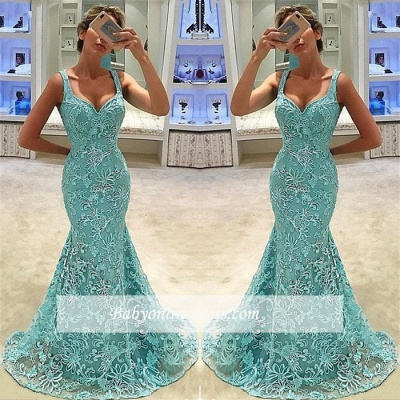 Glamorous Scoop Sleeveless Prom Dresses | Appliques Mermaid Long Evening Gowns_1