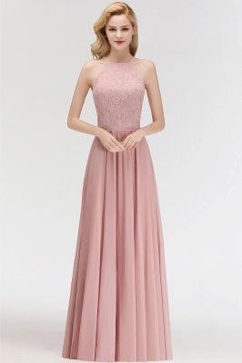 Elegant Halter A-Line Bridesmaid Dresses | Cheap Top Lace Bottom Chiffon Wedding Party Dresses_3