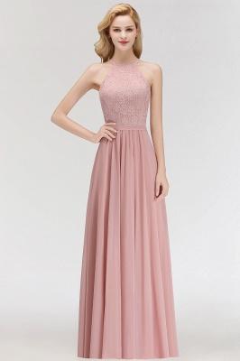 Elegant Halter A-Line Bridesmaid Dresses | Cheap Top Lace Bottom Chiffon Wedding Party Dresses_1