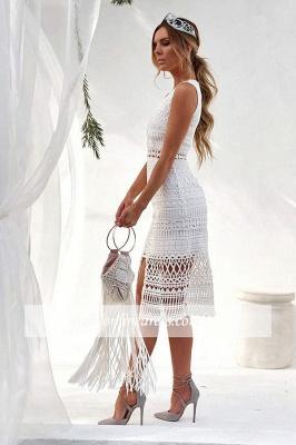 Front-slit Elegant Strap V-neck Sheath Homecoming Dresses_4